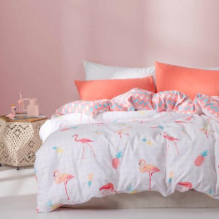 DUOXI drap mền  Tình yêu chăn bông bao gồm đơn ký túc xá 1,5 / 1,8 mét giường in bông gió chăn đôi