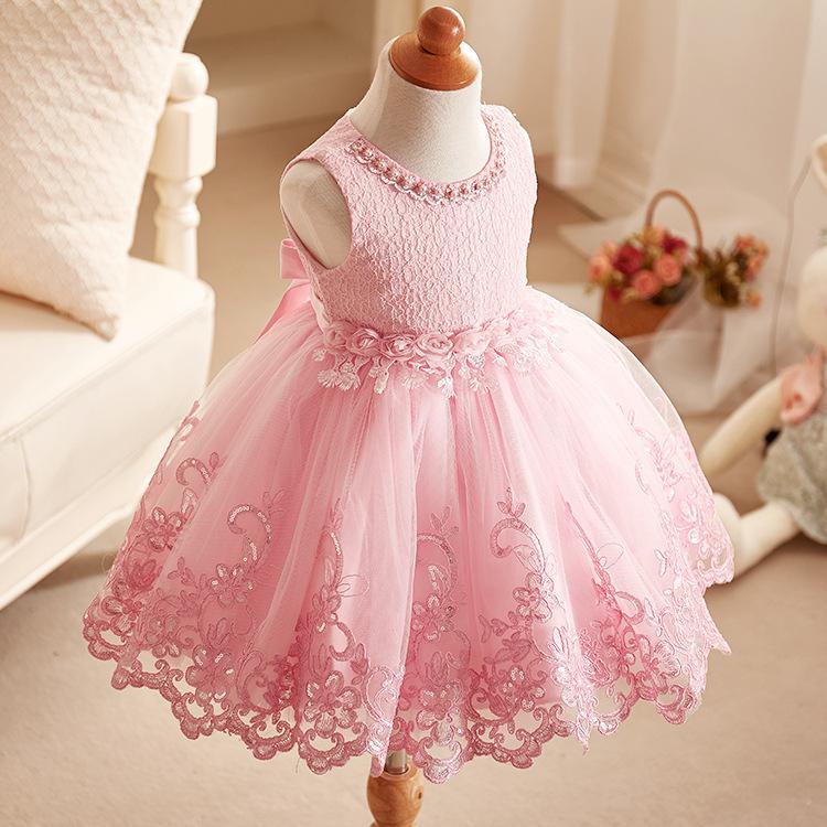 LAFEIBI Trang phục dạ hôi trẻ em 2019 Quần áo trẻ em Hàn Quốc váy cưới công chúa váy cô gái áo lưới
