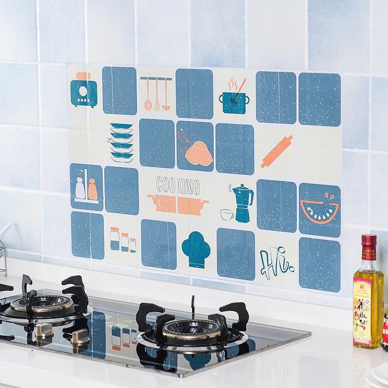 YUEDUO Decal dán tường T2377 tự dính chống dính nhiệt độ cao chống thấm bếp dán tường gạch sticker n