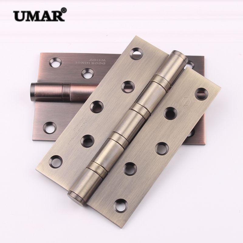 Thị trường ngũ kim Thép không gỉ 5 inch dày 3.0 mang bản lề cửa phòng ngủ cửa gỗ rắn bản lề cửa màu