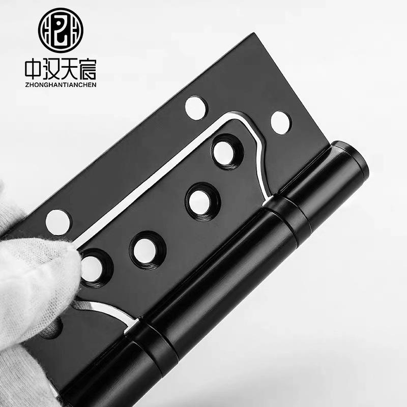ZHTC Bản lề 4 inch màu đen Bản lề bằng thép không gỉ 304 Lá rời Cửa gỗ rắn Mute dày gấp bản lề