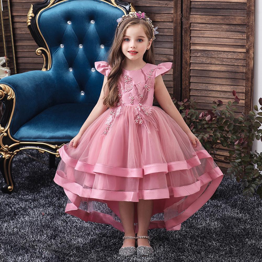 CAILENI Trang phục dạ hôi trẻ em Jin Yier Hot Children Váy cưới Trang phục catwalk Cô gái Trailing P