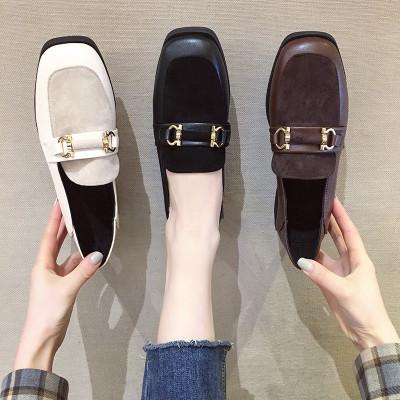 RUANTING Giày Loafer / giày lười Giày nữ 2019 giày thủy triều mùa thu và mùa đông mới phong cách Anh