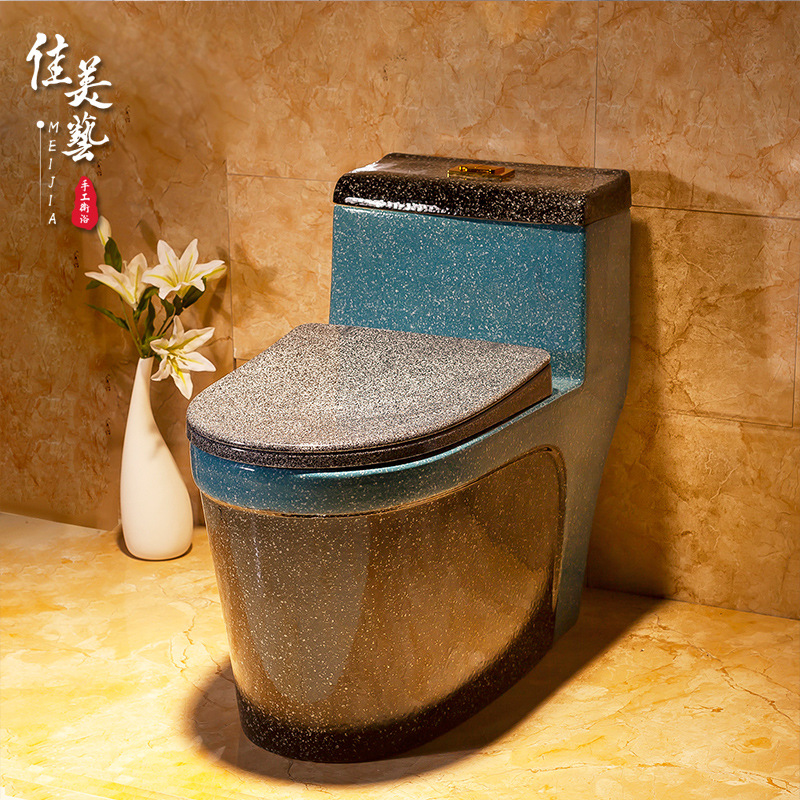 JIAMEIYI Bồn cầu Màu sắc nhà vệ sinh nghệ thuật nhà vệ sinh siêu xoáy tối giản nhà vệ sinh phòng tắm