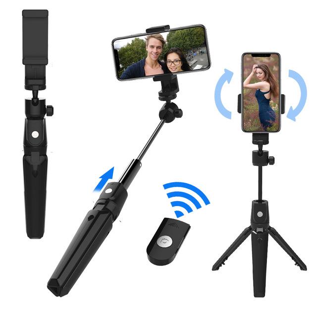 SelfieCom Gây tự sướng K20 Selfie Stick Đa chức năng Bluetooth Selfie Artifact Universal Phone Chân