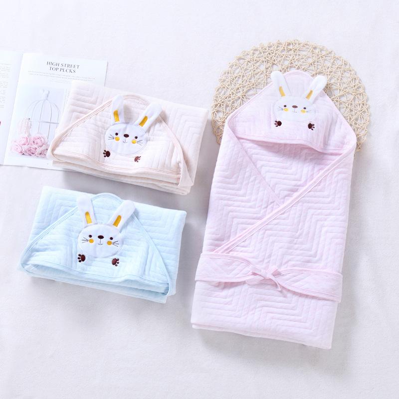 AISHIMIAO Khăn quấn Mùa xuân và mùa thu năm mới cotton mới sinh quilt hoạt hình đầy màu sắc cotton b