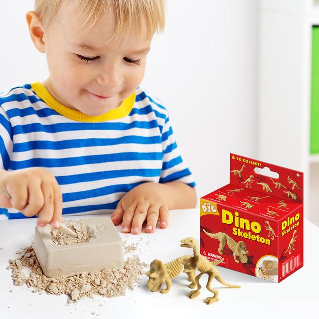 Iwow Đồ chơi sáng tạo Sáng tạo tự làm giáo dục sớm cha mẹ-con câu đố trẻ em đồ chơi khủng long nhỏ h