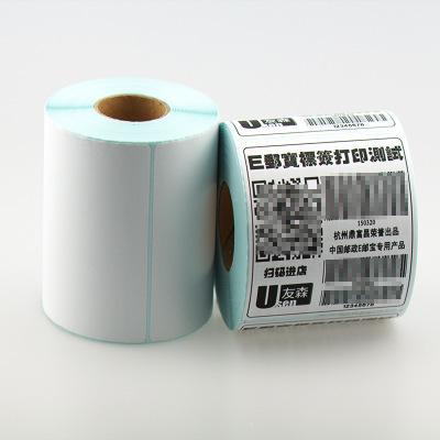 YOUSEN Tem dán in mã vạch Yousen ba nhãn dán giấy chống nhiệt 100 * 100 * 500 e-mail nhãn dán mã vạc