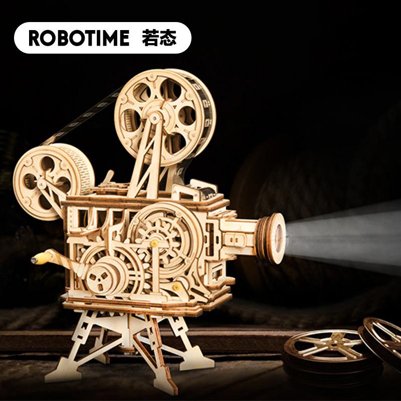 NUOTAI Tranh xếp hình 3D Nguồn nhà sản xuất Ruo State Ruoke máy chiếu cổ điển retro 3D câu đố mô hìn