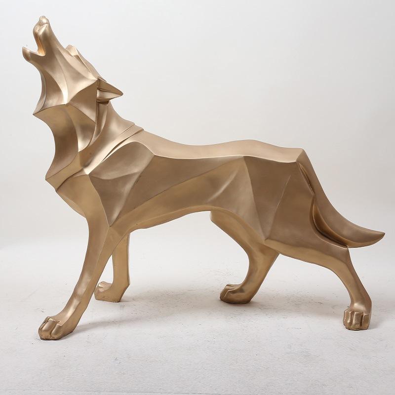 YONGYU Đồ trang trí bằng cao su Bắc Âu nhựa trang trí thủ công nghiên cứu phòng ngủ nhà totem sói ch