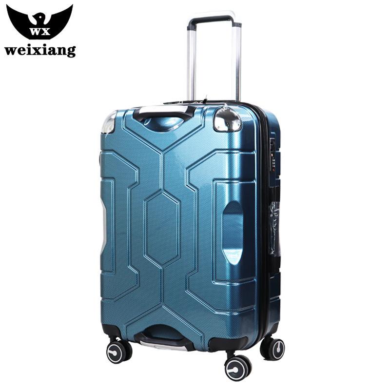 WEIXIANG VaLi hành lý 20 inch nữ hành lý xe đẩy trường hợp hành lý du lịch tùy chỉnh đôi xử lý mật k