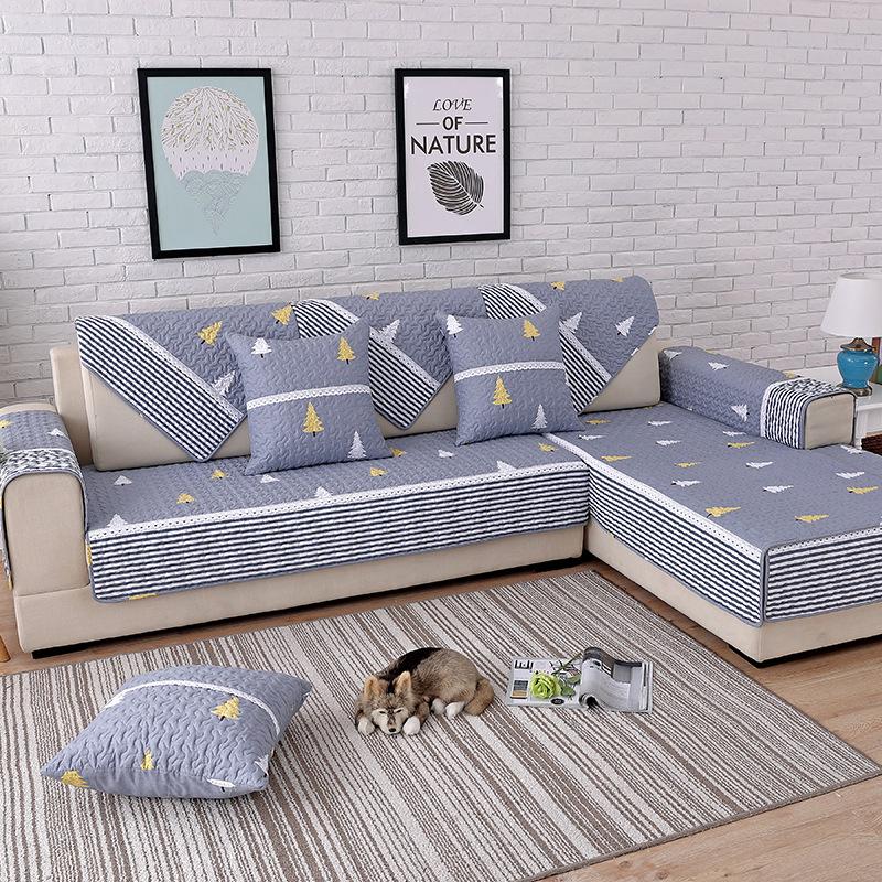 Shengjiao Đệm lót SoFa Pujiang Shengjiao Ánh sáng Bắc Âu sang trọng phong cách quốc gia sofa bông đệ