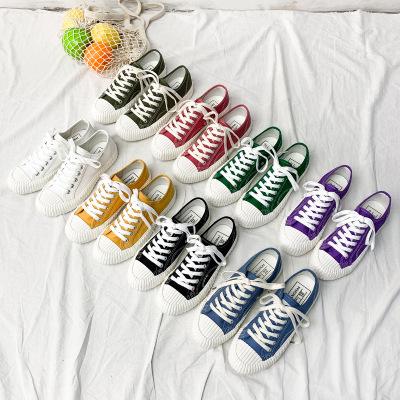 BANGNAI giày vải Bangnai 2019 hè mới sinh viên giày bạt giày vải nữ ulzzang Hàn Quốc đôi giày đế thấ