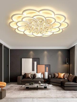 đèn ốp trầnPhòng khách đèn pha lê hiện đại tối giản không khí tối giản nhà đèn sang trọng 2020 đèn p