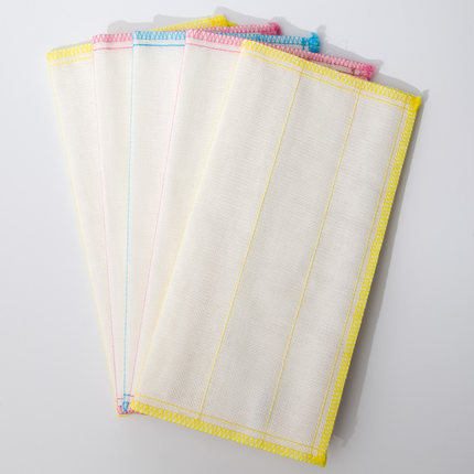 Miaojie  Khăn rửa chén  Khăn lau ma thuật Miaojie 5 miếng * 3 gói Vải rửa chén thấm nước, không dễ r