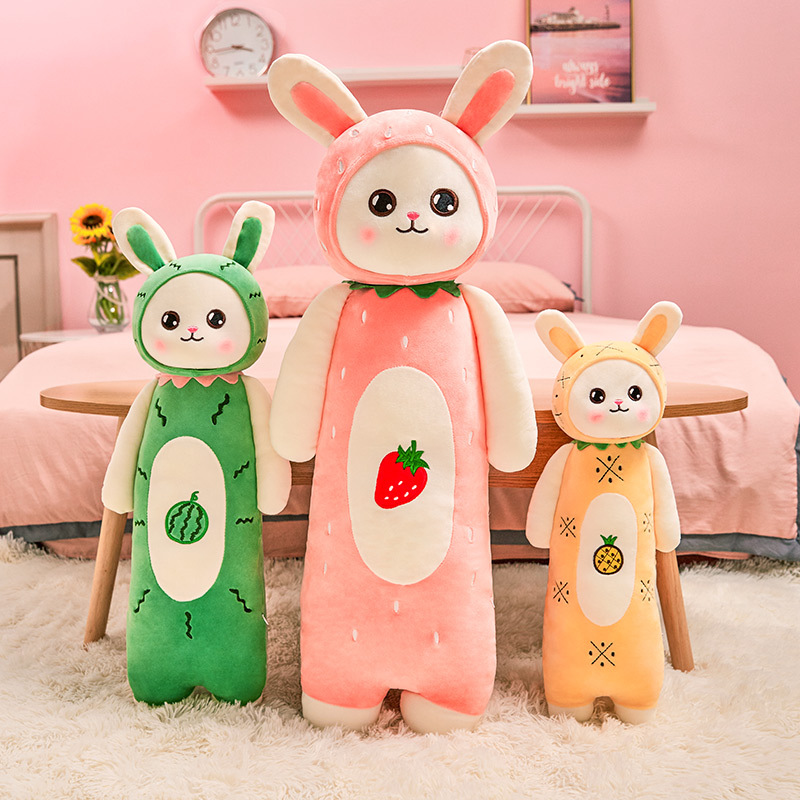 YIMEI Búp bê vải Búp bê Yimei sáng tạo dễ thương thỏ đồ chơi sang trọng để gửi cho bé gái ngủ gối bú