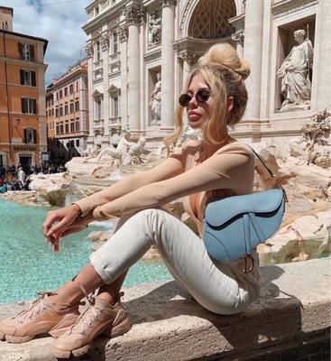 giày bánh mì / giày Platform EDGII ED205005 giày đế dày, giày đế mềm, giày trắng, giày nữ bằng da