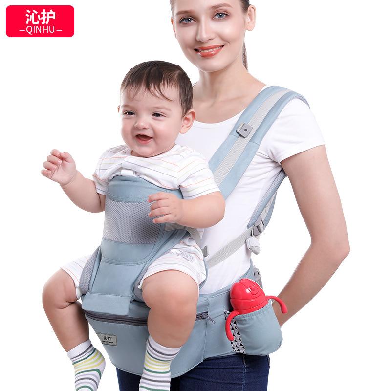 QINHU Đai cõng bé Victoria Baby Bế em bé Eo Phân phía trước Giữ đa năng Trẻ em Bốn Mùa Phổ quát Giữ