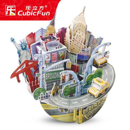 Le Cube Xếp hình 3D bằng gỗ  3D Puzzle Puzzle World Building Model Children Children Gift Gift Creat
