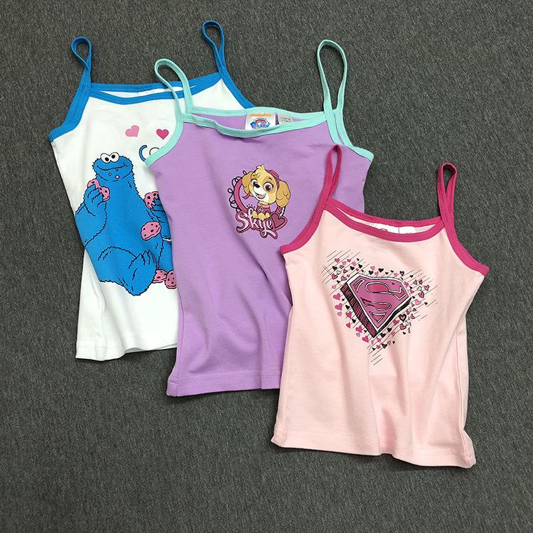 Áo ba lỗ / Áo hai dây trẻ em Ngoại thương châu Âu và Mỹ gốc trẻ em độc thân Lycra cotton vest bé chả
