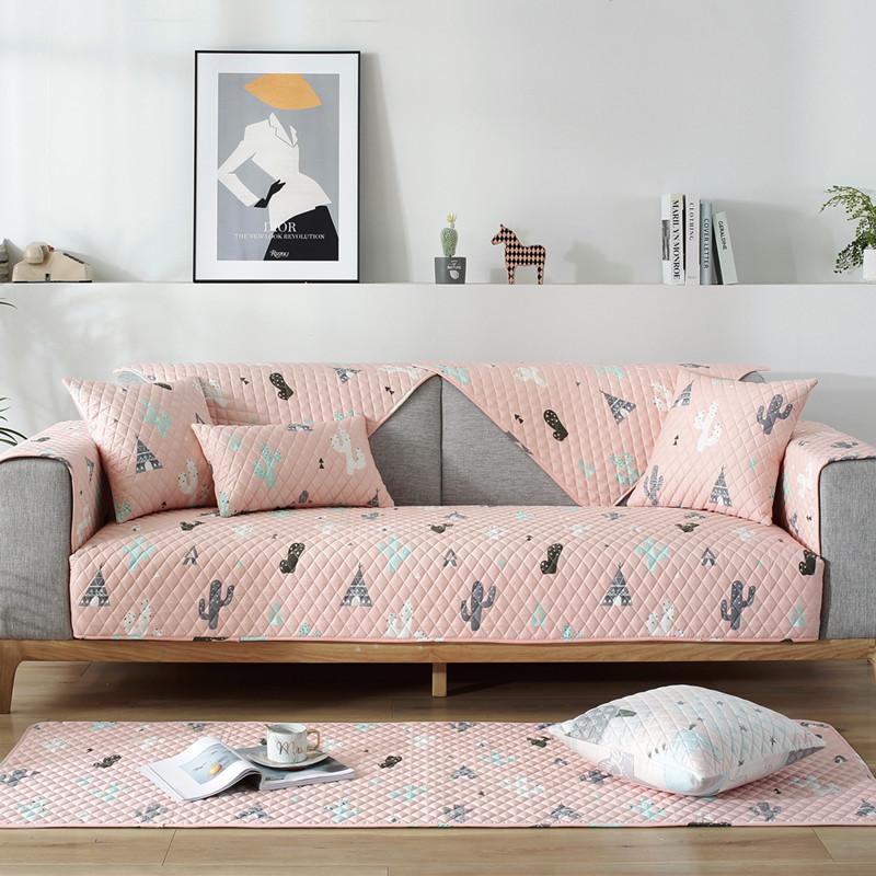 Đệm lót SoFa Sofa đệm đơn giản hiện đại vải cotton Bắc Âu bốn mùa phổ quát bông chống trượt bao gồm