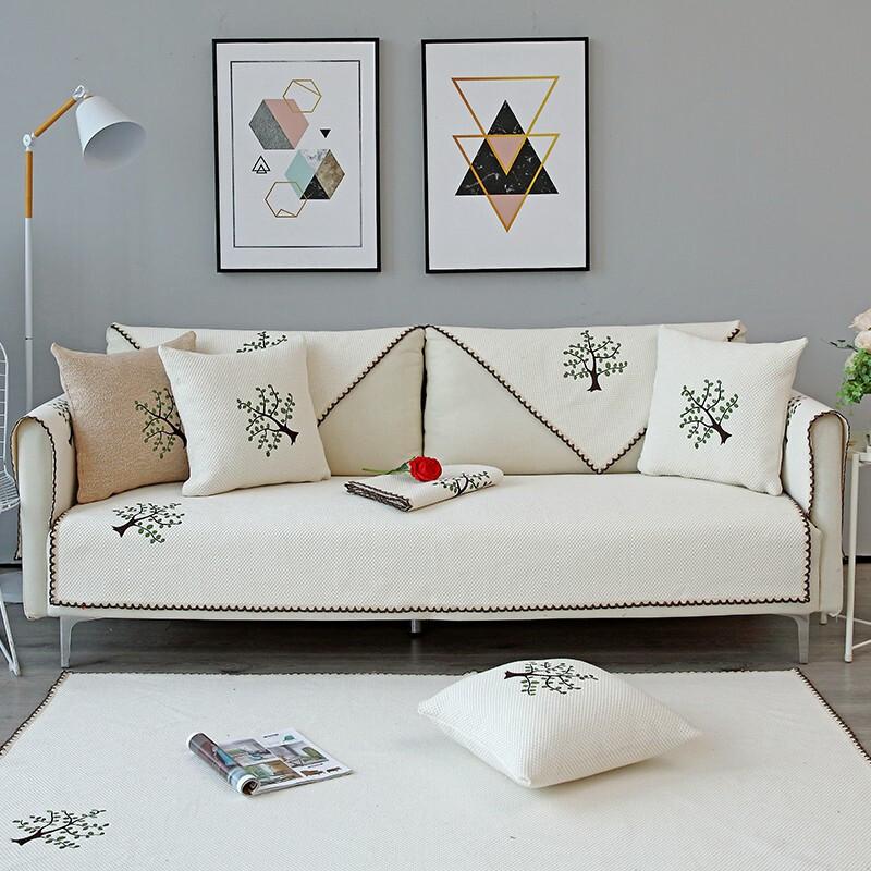 HUAJIYUN Đệm lót SoFa Vải cotton vải lanh sofa đệm sofa sofa bìa bao gồm bốn mùa phổ quát có thể đượ