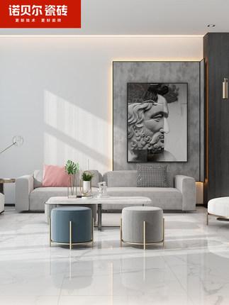 Nobel Gạch men sứ  Gạch lát nền đá hoa cương trắng cao cấp chống trượt sàn phòng khách 800x800