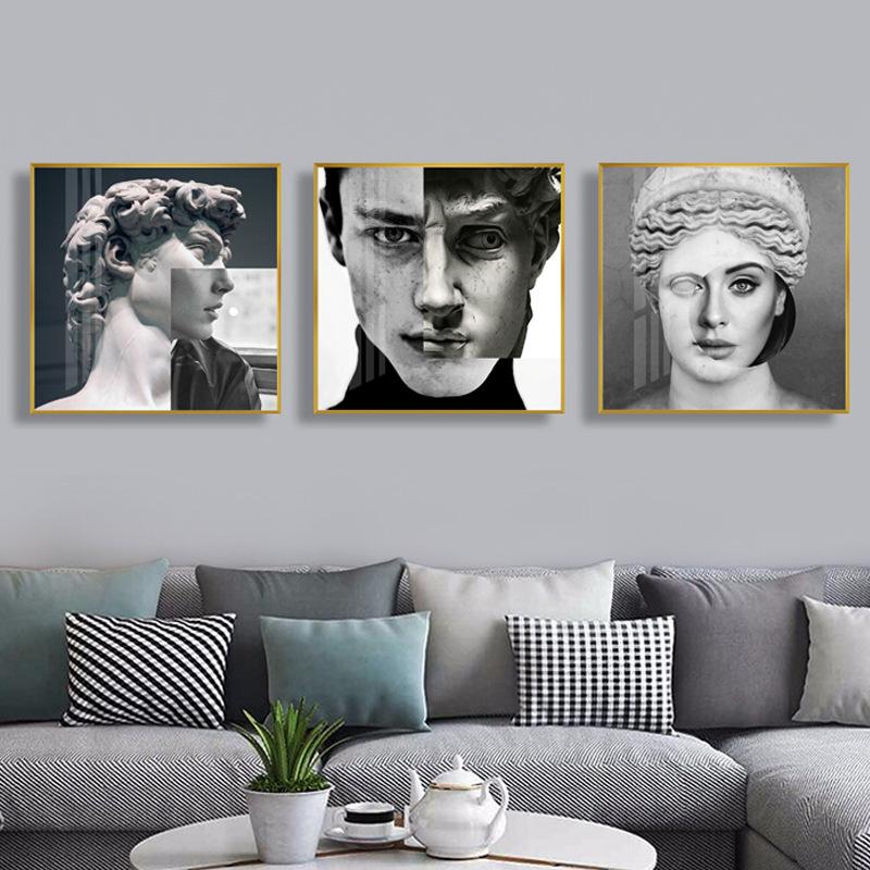 XINGCHEN Tranh trang trí David Mona Lisa Tượng Nhân vật Nghệ thuật Trang trí Tranh Ánh sáng Phong cá