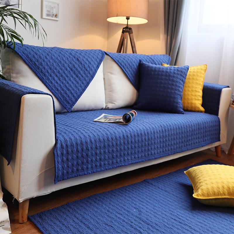 GUANGRUI Đệm lót SoFa Đệm bông bốn mùa đệm sofa màu nordic hiện đại đệm chống trượt vải bông đệm bán