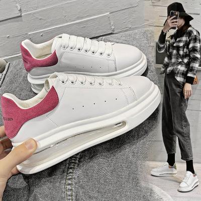 JULIANG Giày bánh mì 2020 mùa xuân mới đế dày đế giày da McQueen nhỏ giày trắng nữ Giày dép nữ bình