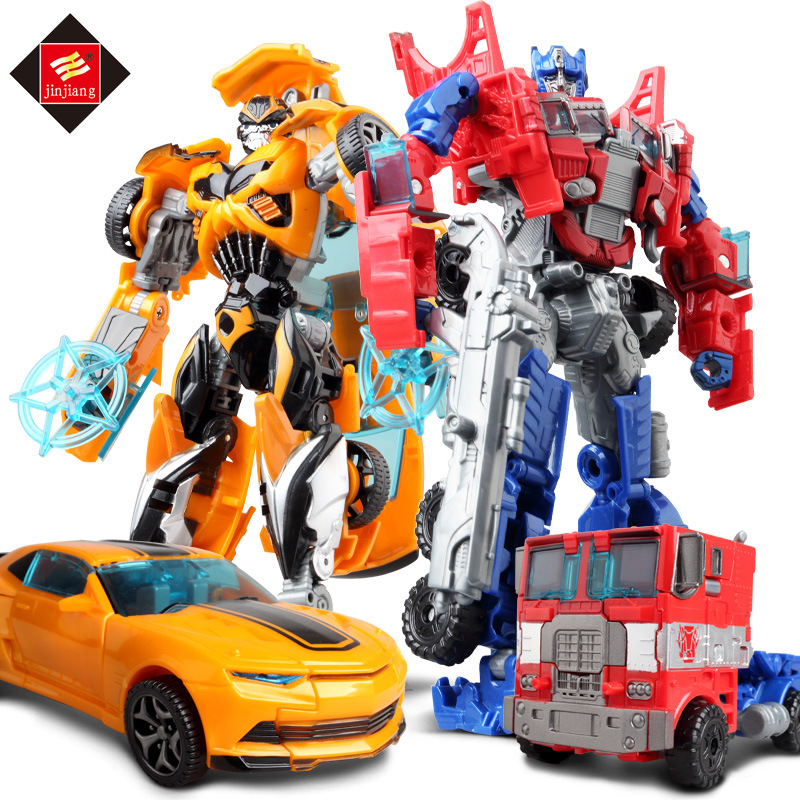 Jinjiang Đồ chơi biến hình Transformers Transform Toy King Kong 5 Children Transform Toy Wasp Optimu
