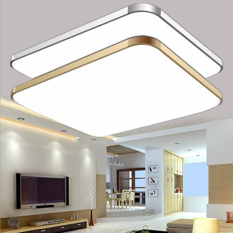 QIHAO đèn ốp trần led trần đèn hình chữ nhật phòng khách đèn trần khí quyển hiện đại tối giản phòng