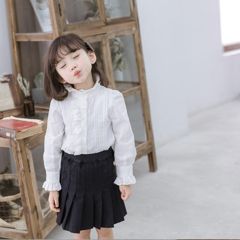 Cicie Phong cách Hàn Quốc Mùa xuân và mùa thu mới quần áo trẻ em Hàn Quốc áo sơ mi trẻ em Hàn Quốc m