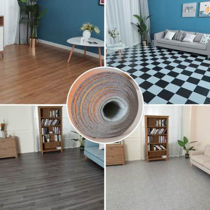 Ván sàn  PVC sàn da dày chống thấm sàn nhựa pad sàn da sticker tự dính sàn xi măng thảm mô phỏng