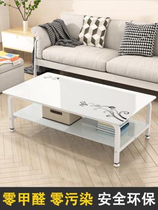 thuỷ tinh Bàn kính cường lực bàn cà phê phòng khách đơn giản căn hộ nhỏ bàn trà hình chữ nhật kinh t