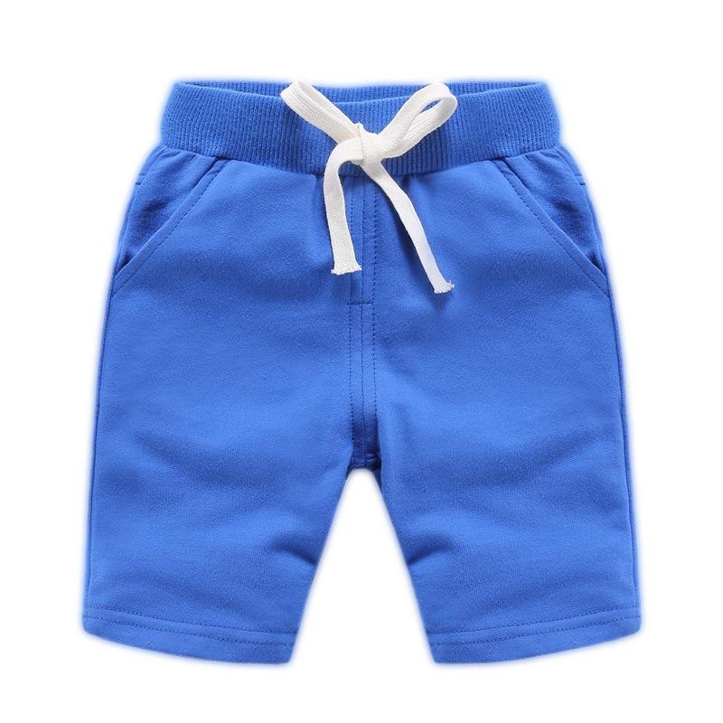 Mi Chun Trang phục trẻ em mùa hè nổ quần áo trẻ em nam và nữ năm điểm quần cotton mùa hè Hàn Quốc qu
