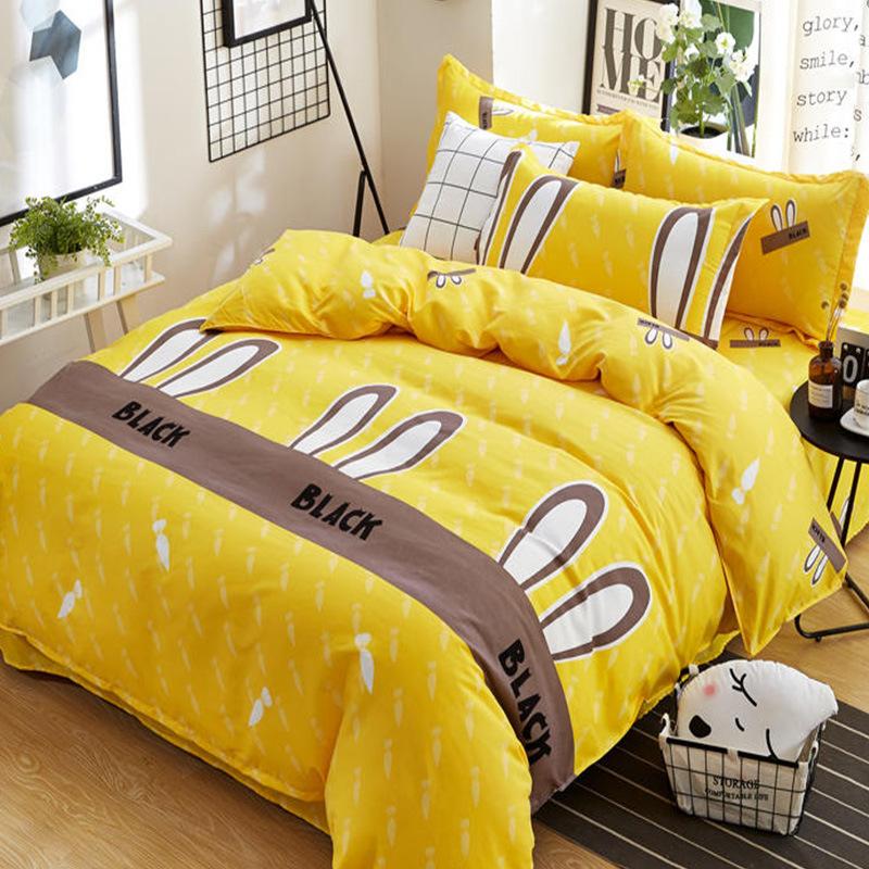 KALUDI drap mền Gift Spot Twill quilt Cover Ba mảnh Bộ đồ giường cạo râu Sinh viên độc thân Ký túc x