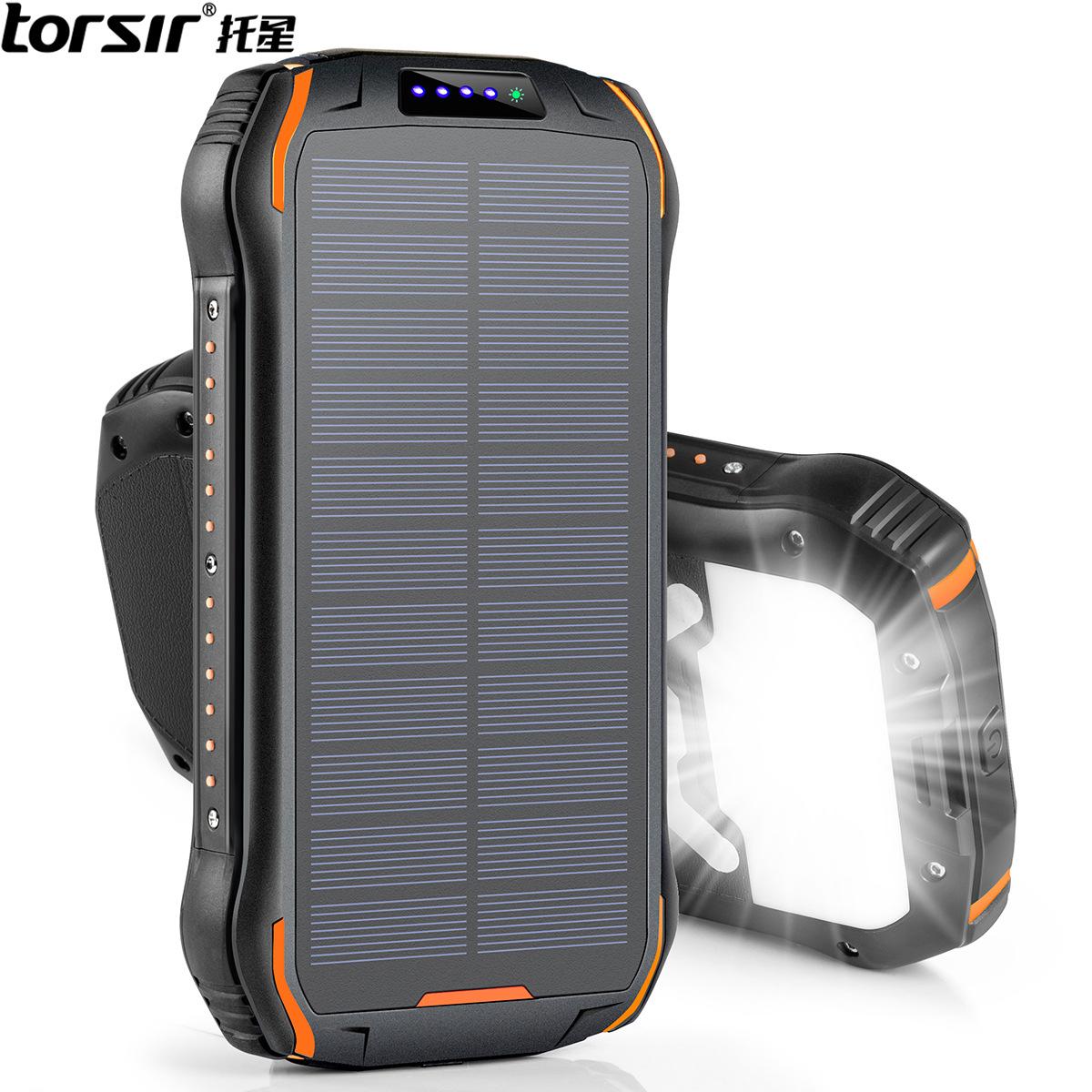 TORSIR Pin sạc dự bị Ngân hàng điện không dây năng lượng mặt trời chống nước IP66 chống cháy nổ Ngân
