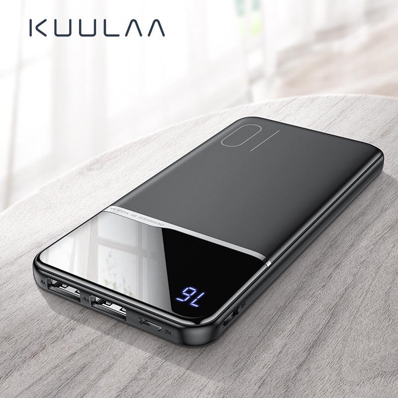KUULAA Pin sạc dự bị Màn hình kỹ thuật số siêu mỏng mới 10000 mAh sạc nhanh điện thoại di động điện
