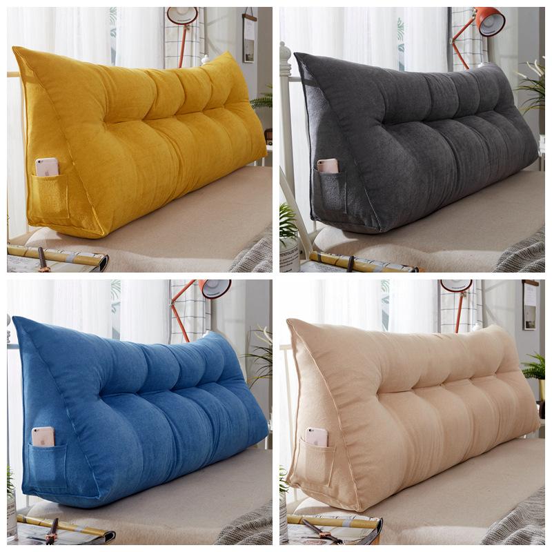 Gối tựa lưng Đệm đầu giường Đệm tam giác Tatami Soft Pack Lớn Giường Lớn Giường dài Đệm Sofa Đơn giả