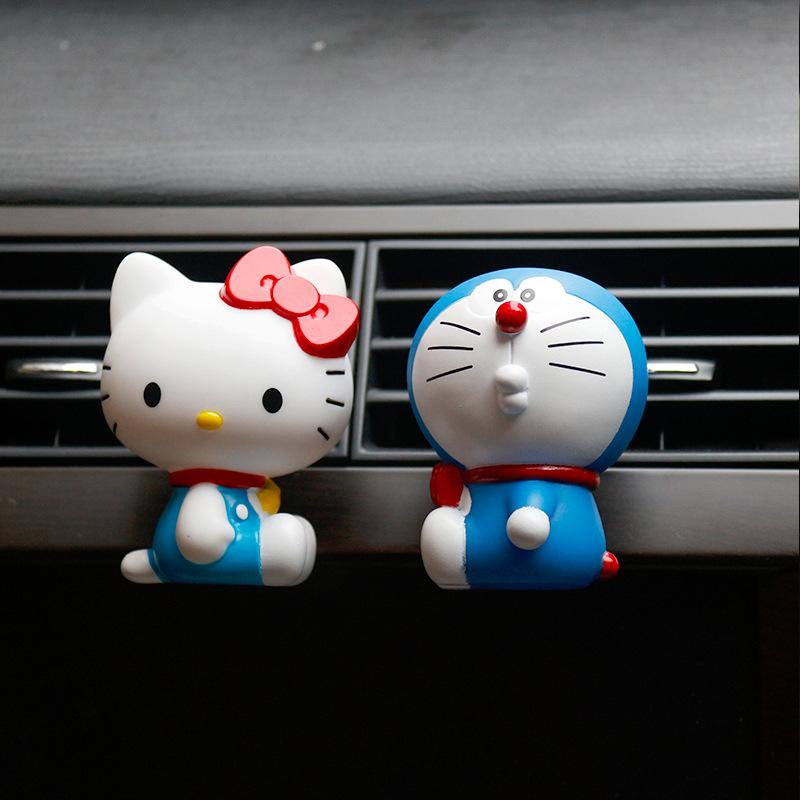 FANGXING nước hoa Xe máy điều hòa không khí cửa ra nước hoa clip dễ thương sáng tạo màu xanh béo xe