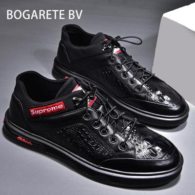 BOGARETE BV Giày Sneaker / Giày trượt ván 2020 mùa hè mới thể thao nam giày da giản dị giày da cá sấ