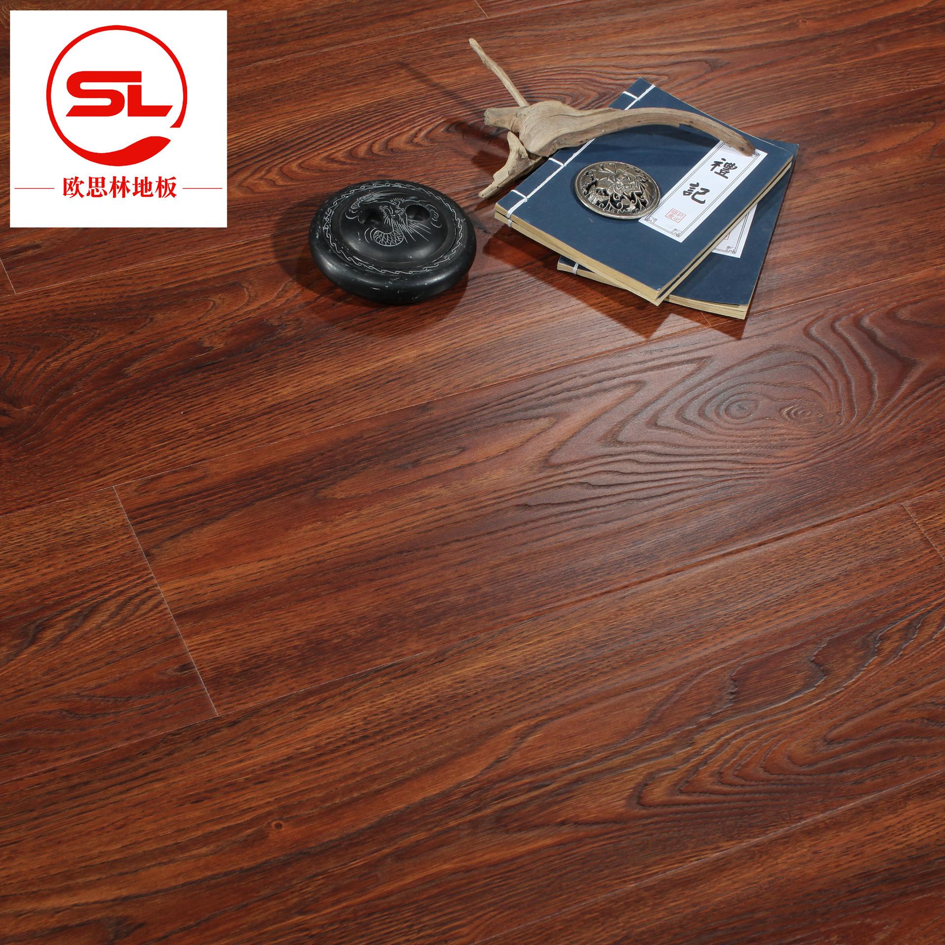 OUSILIN Ván sàn Nhà máy Cửa hàng 12 mm Khóa sàn gỗ công cụ cải thiện nhà Công cụ bảo vệ môi trường q