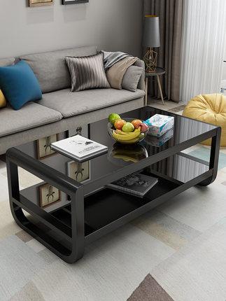 NATUZZI thuỷ tinh Bàn cà phê đơn giản hiện đại căn hộ nhỏ đơn giản bàn hộ gia đình hình chữ nhật bàn
