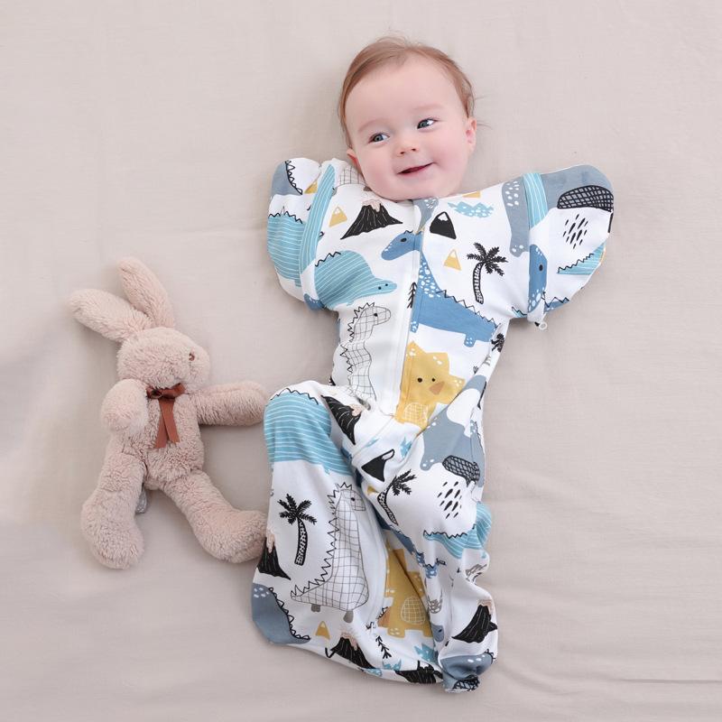 BUZHITONG Túi ngủ trẻ em Túi ngủ cho bé Túi ngủ sơ sinh Túi ngủ chống nhảy Em bé chăn đầu hàng