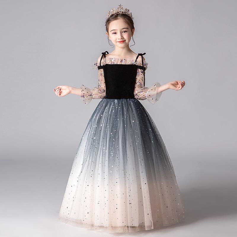 Trang phục dạ hôi trẻ em Váy bé gái váy công chúa fluffy gạc cô gái váy cưới trẻ em catwalk sinh nhậ