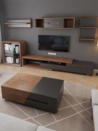 KALIDI / Kệ Tivi  Tủ tivi kết hợp bàn trà đặt phòng khách tối giản hiện đại kết hợp tường kính thiên