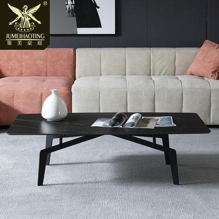 Đá hoa cương  Bàn đá phiến Bắc Âu bàn cà phê căn hộ nhỏ phòng khách đơn giản Bàn bên Ý có thể được t