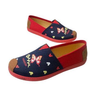 GANYUDE Giày Loafer / giày lười 2020 đôi giày đế mềm mới in giày vải Mary thoáng khí Thomas phẳng gi