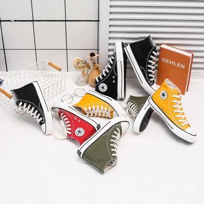 LOJASON giày vải Những năm 1970 cổ điển giày vải cao cấp dành cho nữ mùa xuân Phiên bản Hàn Quốc của